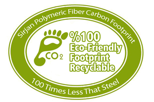 Polymeric Macro Synthetic Fiber has 100 – time less CO2 against steel fiber, steel mesh and steel rebar